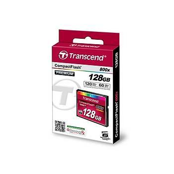 Transcend TS128GCF800 128 GB CF 800X Premýum UDMA7 120/60Mb/s CompactFlash Hafýza Kartý