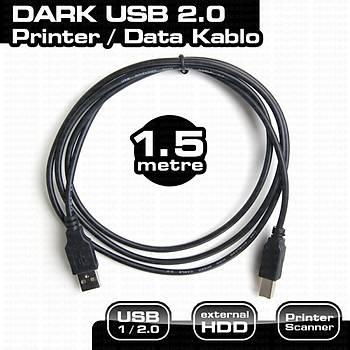 Dark DK-CB-USB2PRNL150 1.5 Mt USB 2.0 to USB Tip B Yazıcı Data Kablosu