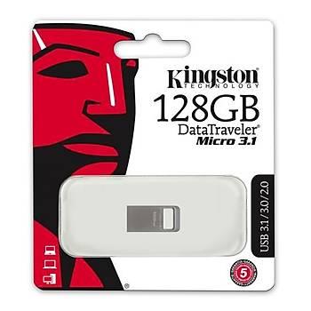 Kingston DTMC3/128GB 128 GB 100/15MB/s Datatraveler Micro USB 3.1 Flash Bellek