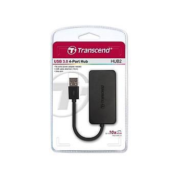 Transcend TS-HUB2K USB 3.0 to 4 Port USB 3.0 Siyah USB Çoklayýcý