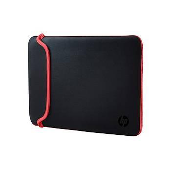 Hp V5C30AA 15.6 inch Chroma Reversible Sleeve Siyah Kýrmýzý Notebok Kýlýfý