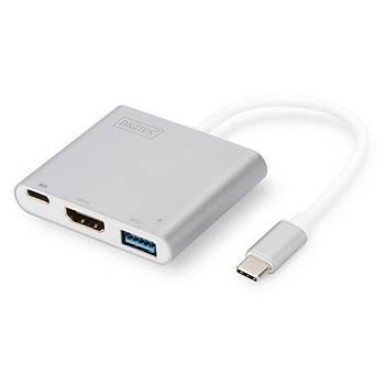 Digitus DA-70839 USB 3.0 to VGA 1920x1080 USB Type C (PD) USB 3.0 USB Grafik Dönüþtürücü Adaptör