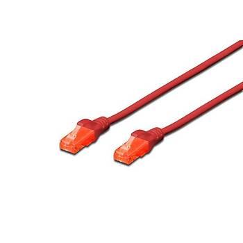 Digitus DK-1617-0025/R 0,25 Mt CAT6 AWG26/7 LSZH Utp Kýrmýzý Patch Cord Kablo