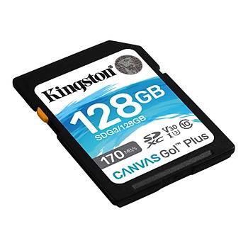 Kingston SDG3/128GB 128 GB 170/90Mb/s Class 3 UHS-I Canvas Go SD Hafýza Kartý