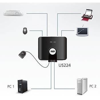 Aten US224 4 Port USB 2.0 2 Bilgisayar 4 USB Cihazý USB 2.0 Paylaþým Cihazý