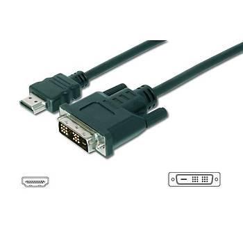Digitus AK-330300-020-S 2 Mt HDMI to DVI-D 18+1 Erkek-Erkek v1.3 UL Dönüþtürücü Kablo