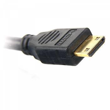 Dark DK-HD-CV14L150MINI 1.5 Mt mini HDMI to HDMI Erkek-Erkek v1.4 4K 3D Altýn Uçlu Dönüþtürücü Kablo