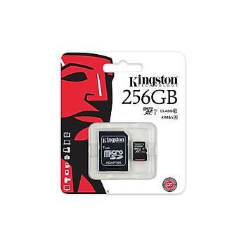 Kingston SDC10G2/256GB 256 GB SDXC Class10 Uhs-I microSD Hafýza Kartý