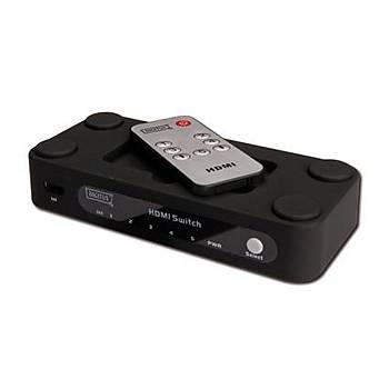 Digitus DC-42304 5 Port HDMI 4K Uzaktan Kumandalý Switch Çoklayýcý