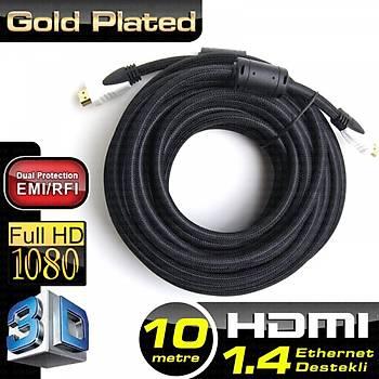 Dark DK-HD-CV14L1000 10 Mt HDMI to HDMI Erkek-Erkek v1.4 4K 3D Að Destekli Dual Molding Altýn Uçlu Görüntü Kablosu