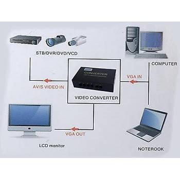 Beek BS-1802 Kompozýt Výdeo S to VGA Görüntü Dönüþütürücü Adaptör