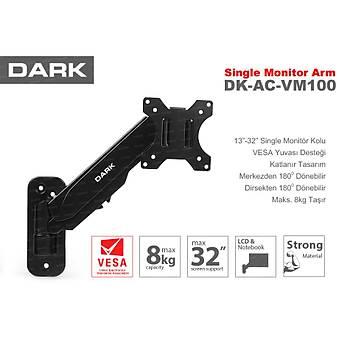 Dark DK-AC-VM100 VM100 13 - 32 inch Amortisörlü Hareketli Duvar Monteli Aský Apartý