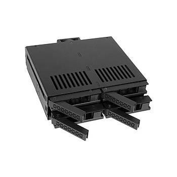 Icy Dock MB324SP-B Expresscage 2.5 inch x 4 Yuva 5.25 inch Disk Çevirici