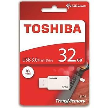 Toshiba THN-U303W0320E4 32 GB U303 USB 3.0 Akatsuki Beyaz Flash Bellek