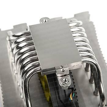 Akasa AK-CC4010HP01 Venom Medusa Intel Amd 2x14cm Sarý Fanlý Ýþlemci Soðutucusu