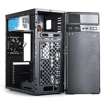 Tx TXCHK6P250 250W K6 2xUSB 2.0 8cm Fanlý Siyah Mýd Tower Atx Kasa