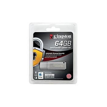 Kingston DTLPG3/64GB 64 GB 135/40MB/s Datatraveler Locker+ G3 USB 3.0 Flash Bellek