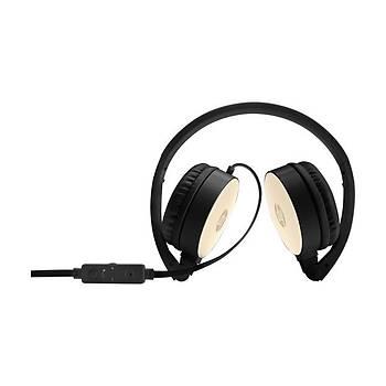 Hp 2AP94AA H2800 Stereo Siyah Altýn Mikrofonlu Kulaklýk