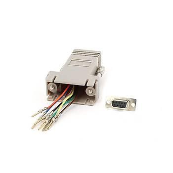 S-Link SL-DB915 RS232 DB9 to RJ45 Diþi-Diþi Modüler Adaptör