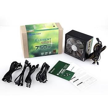 High Power HP-EP-750S 750W Element Smart 80+ Bronze 13.5cm Mavi Ledli Fan Power Supply