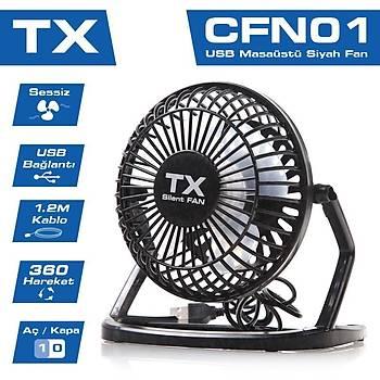 Tx TXACFN01 360 Derece Hareketli Sessiz USB Masaüstü Mini Fan