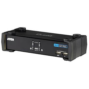 Aten CS1782A 2 Pc Dvý Kvmp 2 Port USB 2.0 3D Desteði Kvm Switch