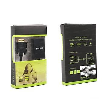 Dark DK-HD-AVGAXHDMI2 Analog VGA Ses Dijital to HDMI Erkek-Diþi Aktif Dönüþtürücü Adaptör