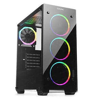 Dark DKCHVISIONPRO VISION RGB PSU YOK T-Class 4x12cm Dual ARGB Fanlý Oyuncu Kasasý