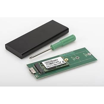 Digitus DA-71111 mSATA M2 SATA NGFF M2 SSD to USB 3.0 Alüminyum SSD Disk Kutusu