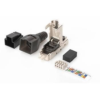Digitus DN-93631 CAT 6A Jack Zýrhlý 500Mhz RJ45 Gri Renk 10 Gbit