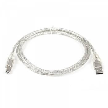 Dark DK-CB-USB2PRNL152 1.5 Mt  USB 2.0 to USB Tip B Þeffaf Erkek-Erkek Yazýcý Data Kablosu