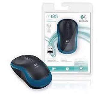 Logitech 910-002236 M185 Mavi/Siyah Kablosuz Mouse