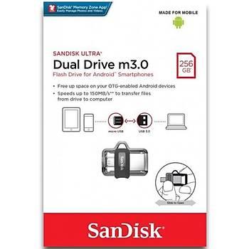 Sandisk SDDD3-256G-G46 256 GB USB Ultra Dual USB 3.2 Gen2 Flash Bellek