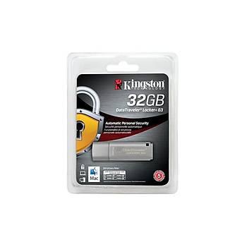 Kingston DTLPG3/32GB 32 GB 135/40MB/s Datatraveler Locker+ G3 USB 3.0 Flash Bellek