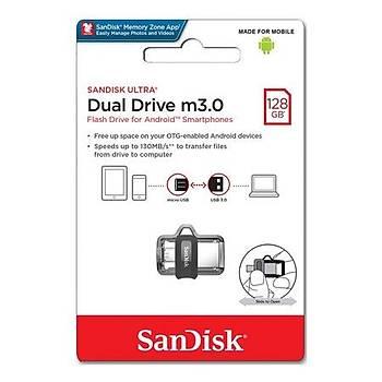 Sandisk SDDD3-128G-G46 128 GB USB Dual M3.0 USB 3.1 Flash Bellek