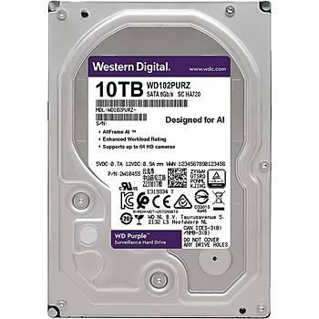 Western Digital WD102KRYZ 10 TB 7200Rpm 256MB 7/24 Purple Güvenlik Harddisk