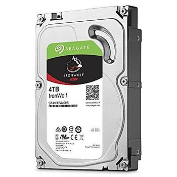 Seagate ST4000VN008 4 TB 5900Rpm SATA 64Mb Ironwolf Nas Harddisk