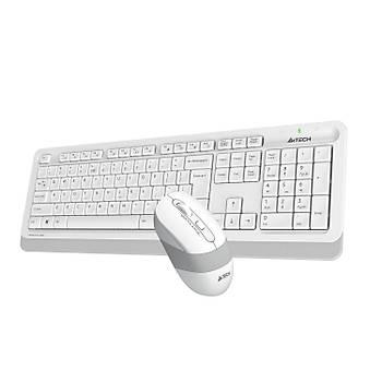 A4 Tech FG1010 Q TR Multimedia Kablosuz Beyaz Klavye Mouse Seti