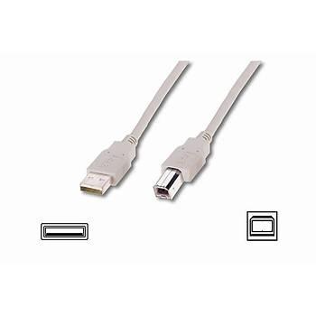 Digitus AK-300102-018-E 1.8 Mt USB 2.0 to USB Tip B Erkek-Erkek AWG28 USB 2.0 Bej Yazýcý Kablosu