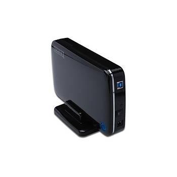 Digitus DA-71035 3.5 inch SATA USB 3.0 Plastik Vidasýz Montaj Harici Harddisk Kutusu