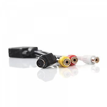 Dark DK-CB-VGAXS35 VGA to S-VIDEO 3.5mm Komposýte Baðlantýlý Dönüþtürücü Adaptör