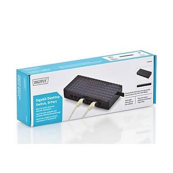 Digitus DN-80064 8 Port 1000Base-T Gigabit Masaüstü Siyah Switch