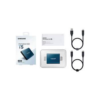Samsung MU-PA250B/WW 250 GB T5 Mýný USB 3.1 Gen 2 Harici SSD Harddisk