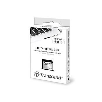 Transcend TS64GJDL350 64 GB Jetdrýve Lýte 350 95/55Mb/s  Geniþleme Kartý