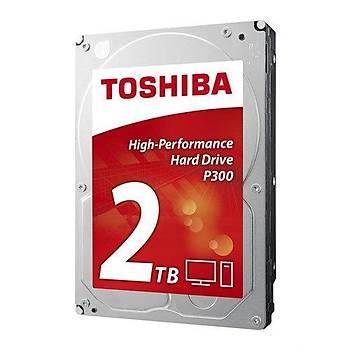 Toshiba HDWD120UZSVA 2 TB 7200Rpm 64Mb P300 SATA Harddisk