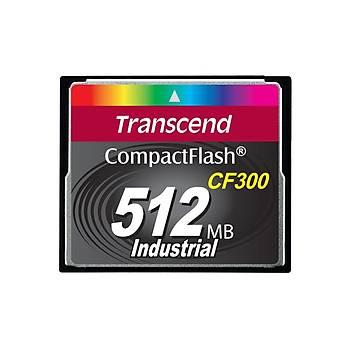 Transcend TS512MCF300 512 MB CF300 300X Industrýal 50/40Mb/s CompactFlash Hafýza Kartý