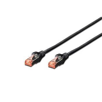 Digitus DK-1644-0025/BL 0,25 Mt CAT6 AWG27/7 S/FTP Halogen Siyah Patch Cord Kablo