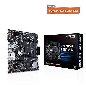 Asus PRIME B450M-K II Sc-AM4 B450 DDR4 4400(OC) M2 mATX Amd Anakart