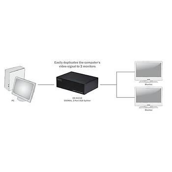 Digitus DS-41110 2 Port VGA 2048x1536 dBi 500 Mhz VGA Çoklayýcý Sipletter