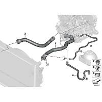 BMW F20 F30 Radyatör Su Depo Hortumu 17127647293